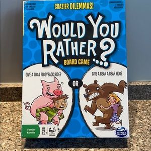 Would You Rather? Board game 12 and up sealed BUT
